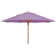 Classic Wood Framed 4.0m Round Parasol - Lilac