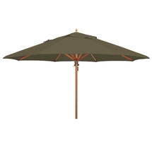 Classic Wood Framed 4.0m Round Parasol - Olive
