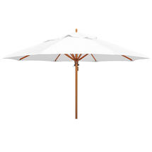 Classic Wood Framed 4.0m Round Parasol - White