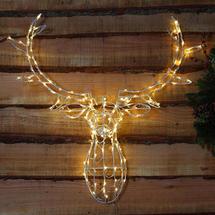 LED Stag Head Door Decoration - 85cm