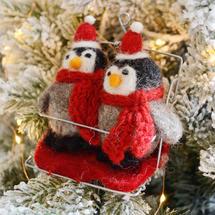 Ski Pals Felt Penguins Decoration