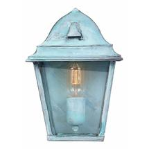 St James Flush Wall Lantern - Verdigris