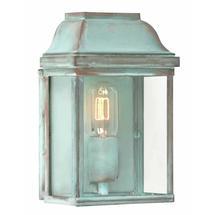 Victoria Flush Wall Lantern - Verdigris