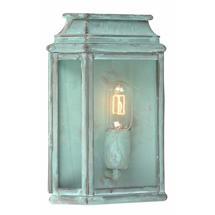 St Martins Flush Wall Lantern - Verdigris