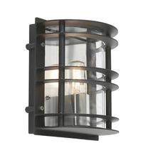 Stockholm Flush Wall Lantern -Black
