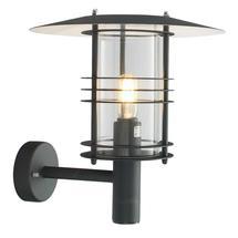 Stockholm Grande Wall Lantern - Black / Clear Lens