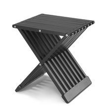 Fionia Folding Stool/Table-Black