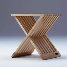 Fionia Folding Stool/Table-Oak