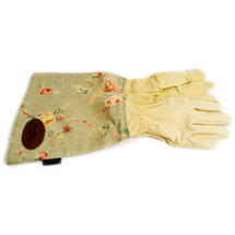 Ladies Linen Pruning Gloves - Green