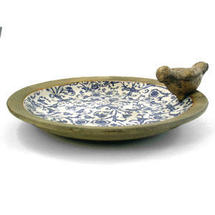 Blue Ceramic Bird bath