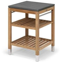 Pantry Small Work Table Teak/Stainless Steel