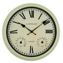 Metal Outdoor Clock - Cream