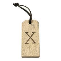 Mango Wood Key Tag - X