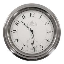 Chrome Outdoor Wall Clock