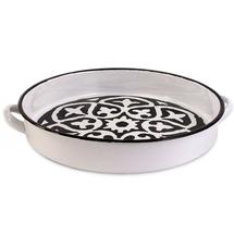 Black and White Enamel Tray