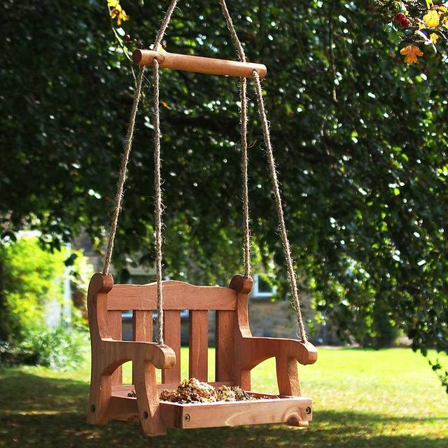 Swinging bird feeders for that