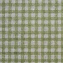 Oilcloth Fabric - Green Check