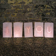 I love You - Candle Bags Large