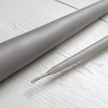 Pair of Light Grey Taper Candles 42cm