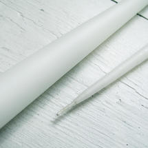 Pair of White Taper Candles 42cm