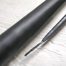 Pair of Dark Grey Taper Candles 42cm