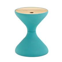 Bells Side Table Buffed Teak - Aqua