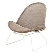 Bepal Lounge Chair - White/Nutmeg