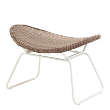 Bepal Footstool - White/Nutmeg