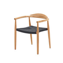 Dansk Buffed Teak Stacking Armchair - Flint Rope Seat