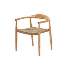 Dansk Buffed Teak Stacking Armchair - Putty Wicker Seat