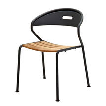 Curve Meteor Stacking Chair - Buffed Teak Seat