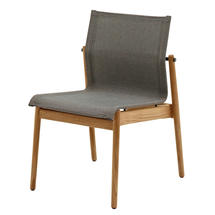 Sway Buffed Teak Stacking Chair - Meteor/Granite