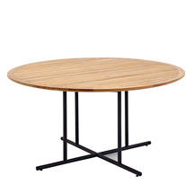 Whirl Meteor 150cm Round Table - Buffed Teak Top