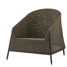 Kingston Woven Lounge Chair - Mocca