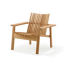 Amaze lounge chair, stackable - Teak