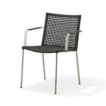 Straw Outdoor armchair, stackable - Anthracite