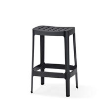 Cut Low Bar Stool - Black