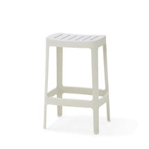 Cut Low Bar Stool - White