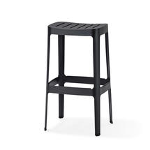 Cut High Bar Stool - Black