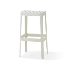 Cut High Bar Stool - White