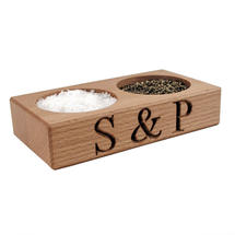 Wooden Salt & Pepper Pinch Dish