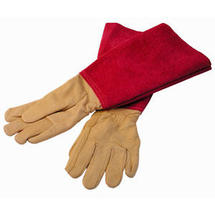 Pink Suede Pruning Gauntlets - Ladies