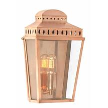 Mansion House Flush Wall Lantern - Polished Copper