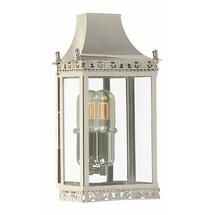 Regents Park Flush Wall Lantern - Polished Nickel