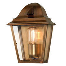 St James Flush Wall Lantern - Brass
