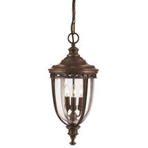 English Bridle Large Hanging Lantern - Bronze