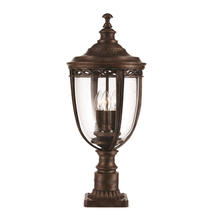 English Bridle Pedestal Lantern - Bronze