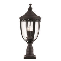 English Bridle Large Pedestal Lantern - Black
