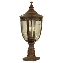 English Bridle Large Pedestal Lantern - Bronze