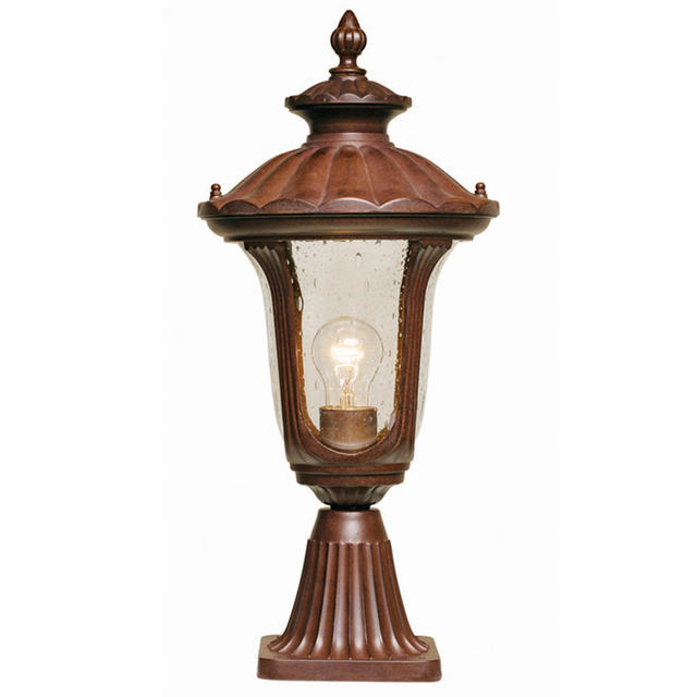 Buy Chicago Outdoor Pedestal Lanterns By Elstead Lighting The Worm That Tur